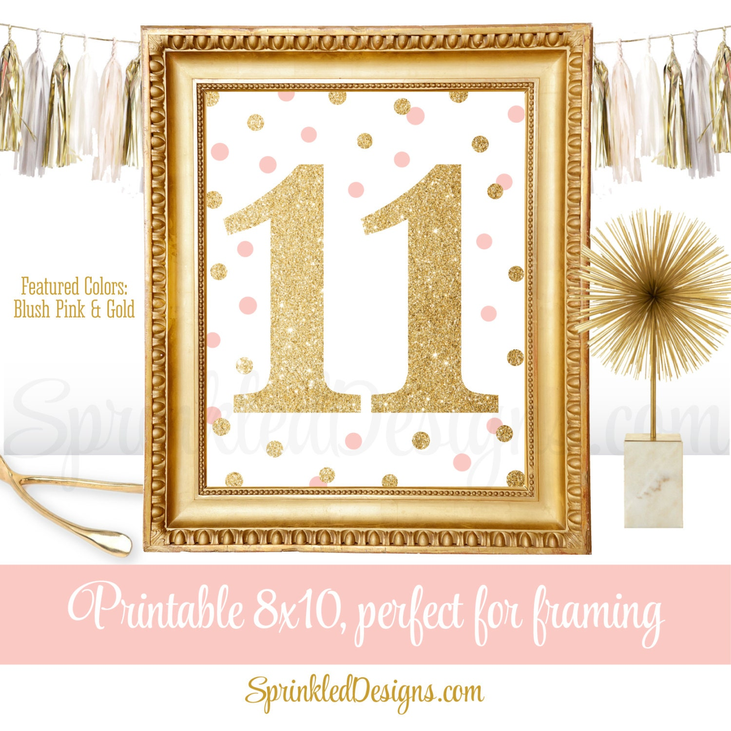 Fine Pink And Gold Wall Decor Frieze - The Wall Art Decorations ...