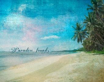 Seaside Photography, Beach Photography, Paradise, Paradise found, Ocean, Sea Decor, Coastal, blue, turquoise, palm trees