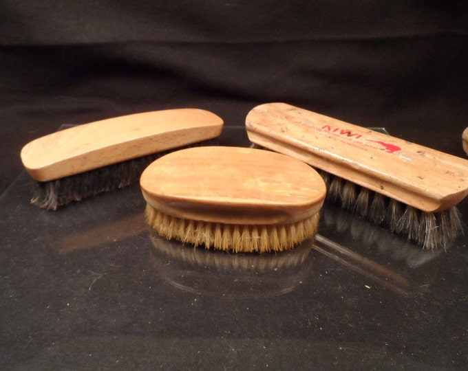 Shoe Shine Brushes-Vintage Shoe Shine Brushes-Tutt Estate