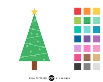 50% OFF SALE! Christmas Tree Clip Art, Christmas Clipart, Tree Clip Art - Commercial Use, Instant Download