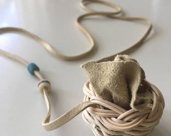 Miniature Cherokee Basket Necklace