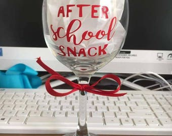 Teacher Appreciation Wine Glass