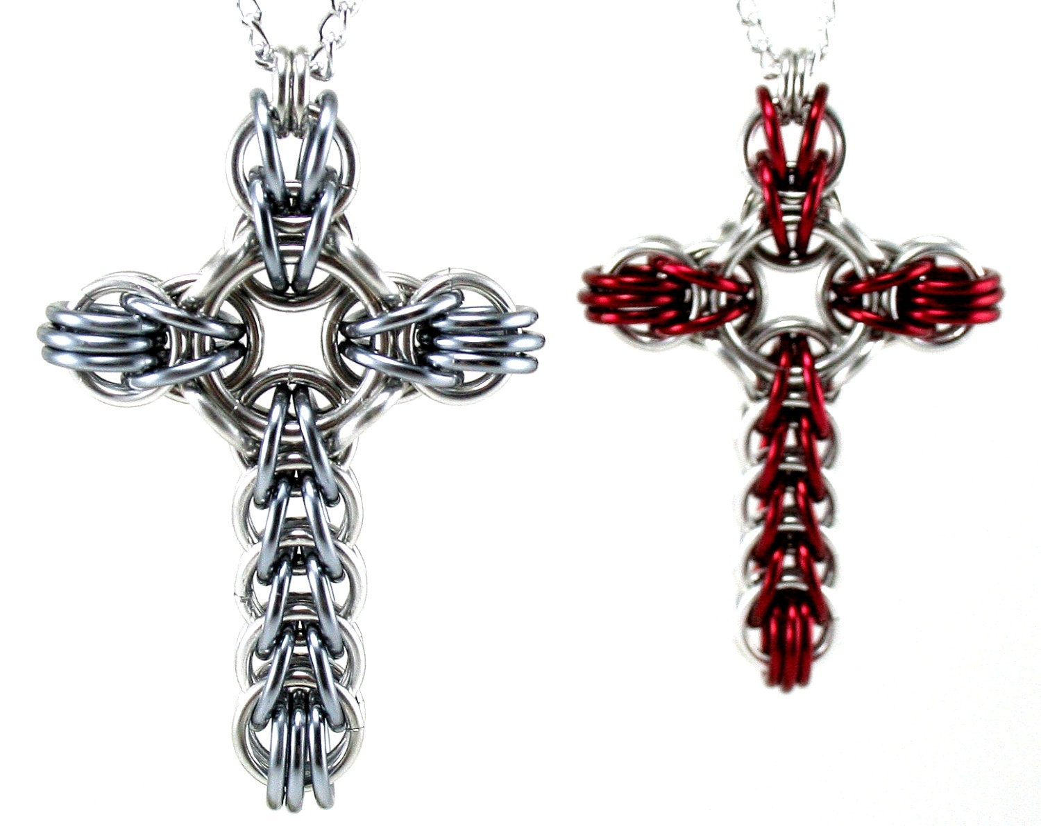 stirling product celtic cross silver necklace