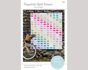 Negativity Quilt Pattern --PDF