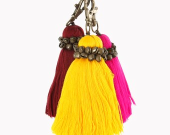 Tassel Keychain, Boho Accessories, Bag Decoration, Gift For Her, Wall Decoration, Tassel Accessories, Bohemian Style, Home Decor