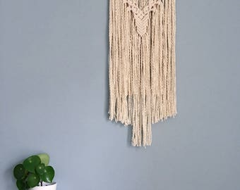 Handmade Macramé Wall Hanging / Beaded Arc / Wall Tapestry
