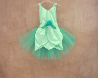 Tinker Bell girls costume unique costume made in Italy Winx cosplay costume Fairy Woodland tutu dress for toddler girls baby girl green suit