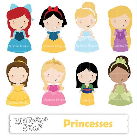 princess digital clipart cute princess clip art fairytale rh etsystudio com fairy tale clip art teachers fairytale clipart border