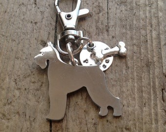 Schnauzer Custom Keychain Dog Lover