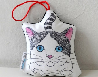 Katze Ormanent, Stofftier, Mini Tier Kissen, Katze Wohnkultur, Ornament, Kinderzimmer Dekor
