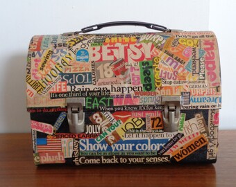 Vintage Hand Decorated Lunch Box