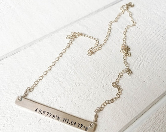 GPS Bar Necklace