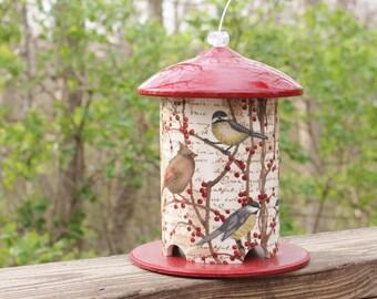 Birds & Berries 2.0 Custom PVC Bird Feeder by Bird Feeder Guy. The Latest Design, New Style Top. Best Seller! Loved By Birds and Bird Lovers
