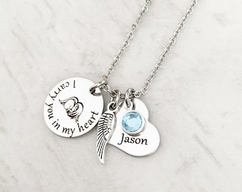 Mother's Memorial Jewelry - Loss of a Child Gift - Baby Memorial Jewelry - Sympathy Jewelry Gift - Miscarriage Necklace - Infant Loss