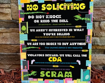 Monsters Inc No Soliciting Sign