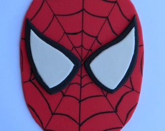 1 edible large SPIDERMAN FACE super hero cake wedding topper decoration party birthday engagement