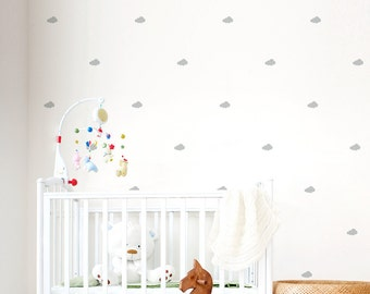 Mini Clouds Wall Decals -Cloud Wall Decal, Nursery Cloud, Tiny Clouds, Cloud Sticker, Modern Nursery Decal, Cloud Wall Art, Whimsical Clouds