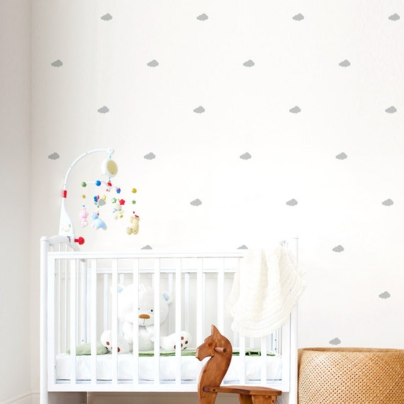sc 1 st  Etsy & Mini Clouds Wall Decals Cloud Wall Decal Nursery Cloud Tiny