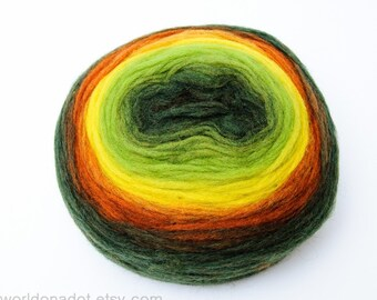 Self Striping Chunky Wool Pencil Roving, Excellent Quality Roving for knitting, crocheting, spinning or felting