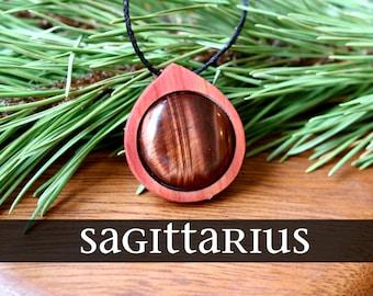 Sagittarius Zodiac Necklace, Zodiac Jewelry, Crystal Necklace