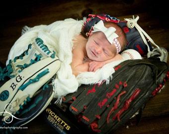 Baseball Headband. Baseball Bow Headband. Baseball Fan Gift. Baseball Lovers Newborn Gift. Toddler. Infant Headband