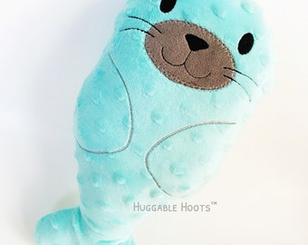 Stuffed Seal - Plush Seal - Stuffed Baby Seal - Personalized Stuffed Animal - Custom Stuffed Animal - New Baby Gift - Kawaii - Seal Stuffie