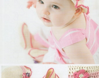 DMC (14891L/2) Baby Hat & Bootees Crochet Pattern
