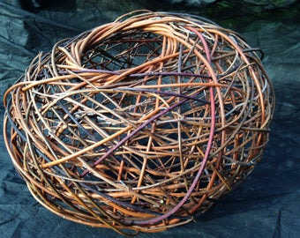 contemporary sculpture willow handmade abstract decorative focal point for the modern home