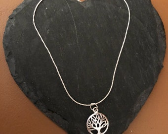 Sterling Silver Tree of Life necklace 16 inch necklace