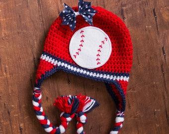 baseball hat little girl baseball hat cardinals hat newborn baseball hat newborn girl baseball hat crochet baseball hat