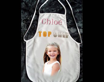 kitchen apron with photo and message