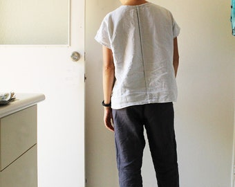 LINEN PANTS - HUDSON / linen trouser / linen / eco clothing / australia / pamela tang / linen clothing