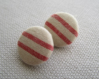 Red Stripe Shank Button 19mm