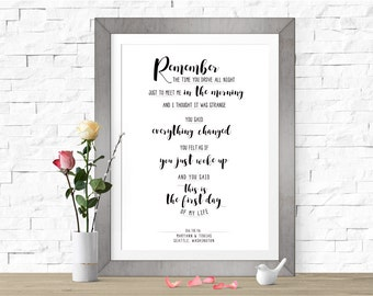 Mean to me brett eldredge wedding song print first dance first day of my life bright eyes custom wedding first dance lyrics art stopboris Gallery
