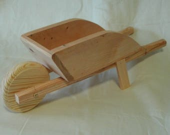 Unfinished Wood Small Wheelbarrow, Unique Candy Dish, Flower Holder, Flower Display, Handmade, Pine, Decoration, Mini, Sanded, Fun Project