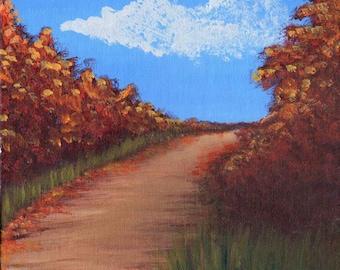 Fall Path -  Acrylic Landscape Painting