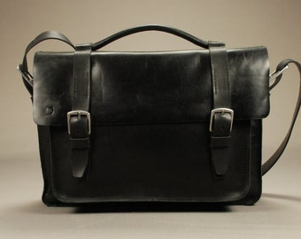 Redoker Compact Briefcase - Genuine leather briefcase / Mens briefcase / Womens briefcase