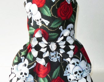 Skull and Rose Harness-Dress.