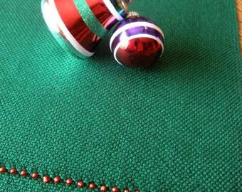 Christmas Table Linen, Woven Dresser Scarf, Christmas Holiday Table Runner, Hand Loomed Table Runner, Christmas Decor, Holiday Table