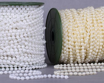 Wholesale lot  40YDS   pearl    Lace Trim DIY   wedding dress bridal  hair accesory  5mm