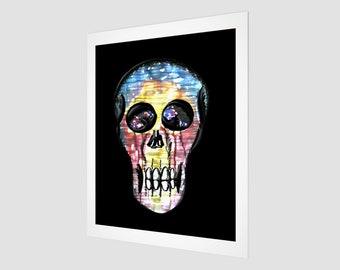 "Watercolour Skull Art Print 16"" x 20"""