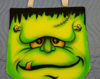 Halloween Airbrushed cloth hand bag