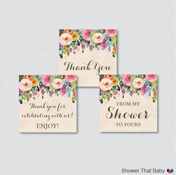 Floral Baby Shower Printable Favor Tag Flower Baby Shower