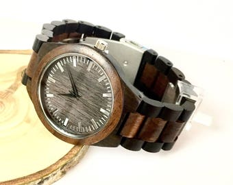 Engraved Wood Watch  - Personalized Wood Watch –  Wood Watch for Him - Groom Gift – Groomsmen Gift –Groom, Father of the Bride,Best Man Gift
