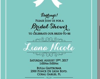 Breakfast at Tiffany's Bridal Shower Invitation