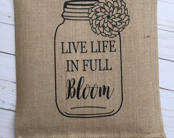 Life is a Bloom Garden Flag