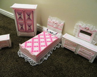 Plastic Canvas Fashion Doll Furniture Set