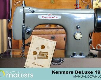 Vintage Kenmore DeLuxe Sewing Machine Manual  PDF Download 1968