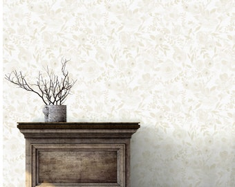 Lillian / Blanche // Peel 'n Stick or Traditional Wallpaper // Custom Colors Available