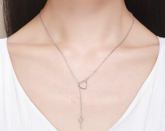 Open Your Heart Silver Necklace